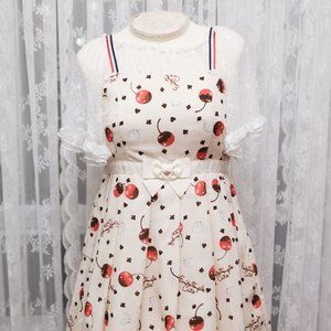 Emily Temple Cute - Melty Cherry Waist Ribbon JSK